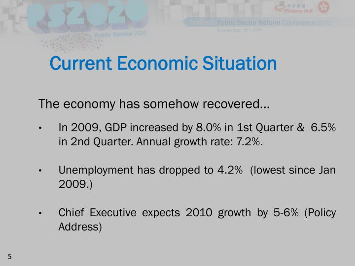 essay on current economic situation Essay on current economic events the growth of the employment rate and car sales discussed in the newsweek's article jobs and car sales expected to show us economy rebounding may be perceived as a positive trend in the us economy but the situation is not as good as it may seem to be because the spending has grown just by 02.