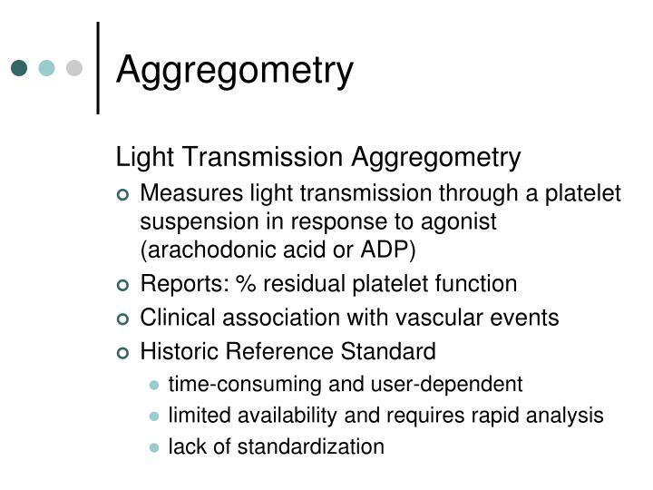 Aggregometry