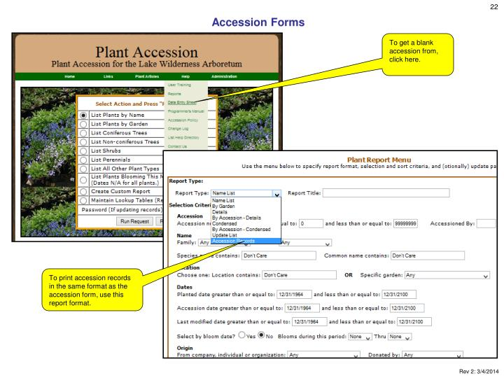 Accession Forms