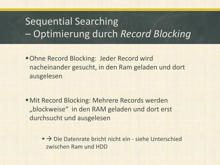 Sequential Searching