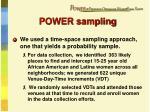 power sampling