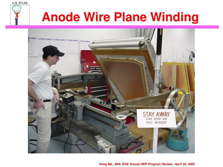 Anode Wire Plane Winding