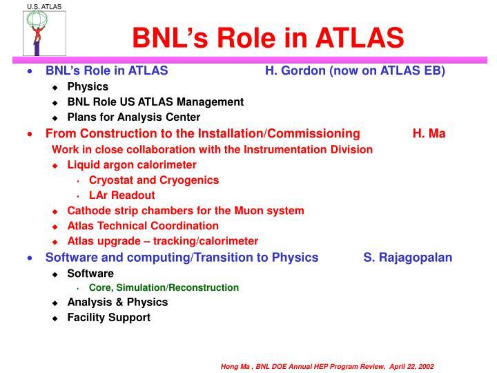 Bnl s role in atlas1