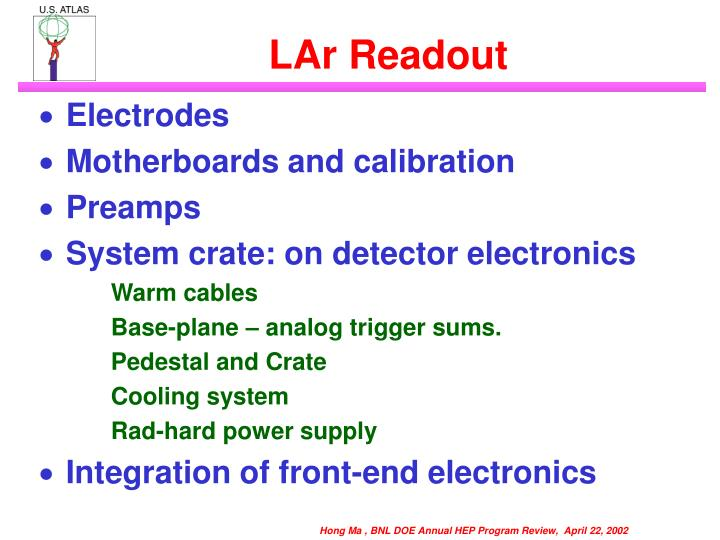 LAr Readout