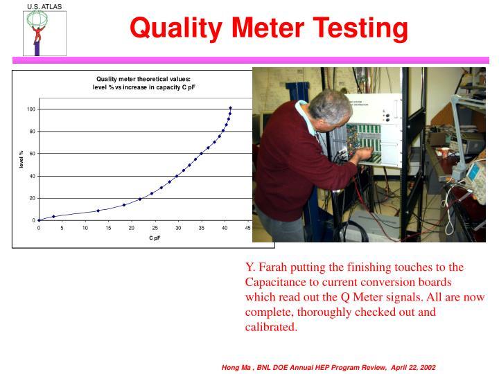 Quality Meter Testing