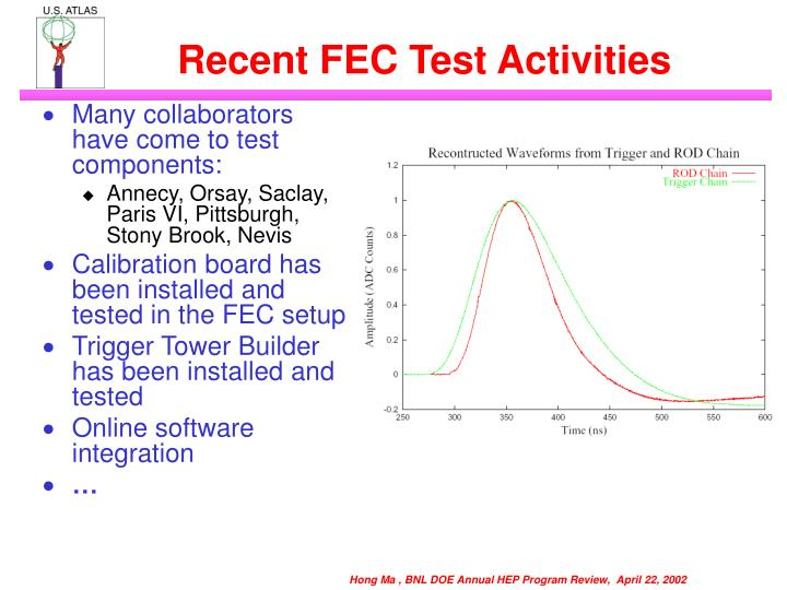 Recent FEC Test Activities
