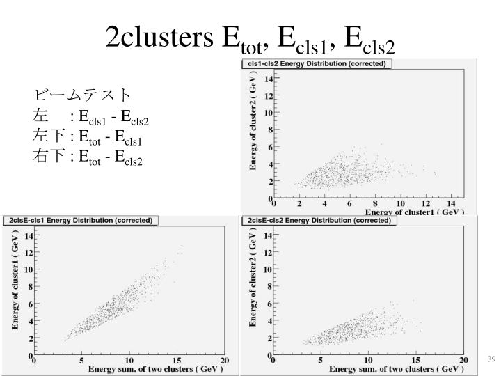 2clusters E