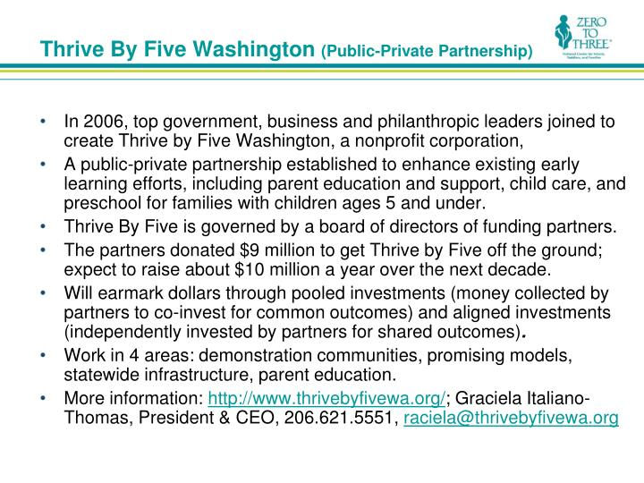 Thrive By Five Washington