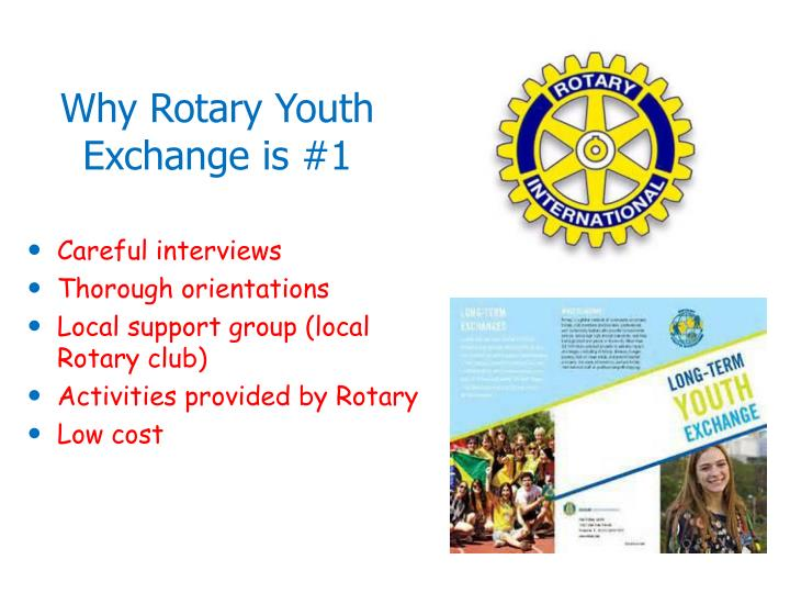 Why Rotary Youth Exchange is #1