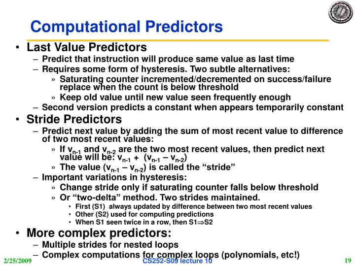 Computational Predictors