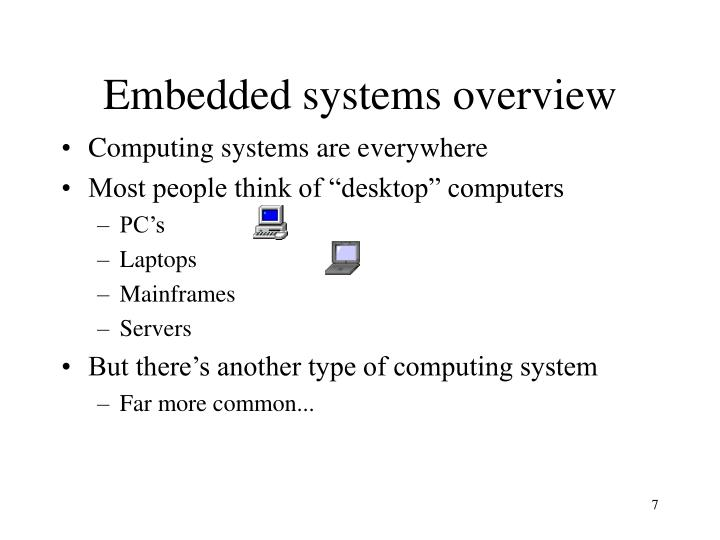 Embedded systems overview