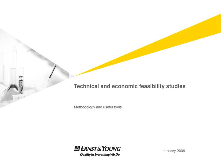 Technical and economic feasibility studies