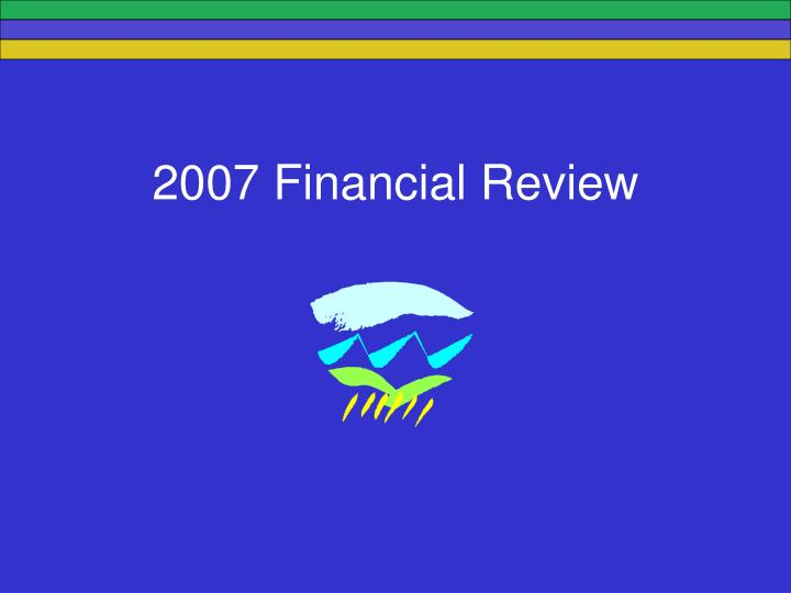 2007 Financial Review