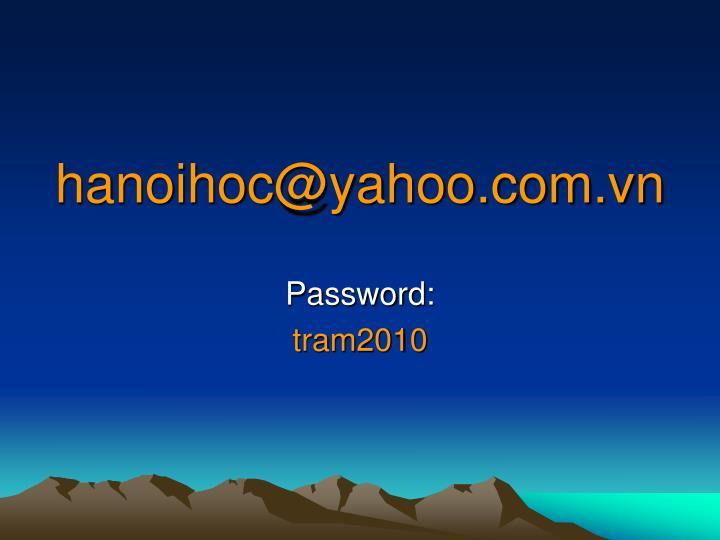 Hanoihoc@yahoo com vn