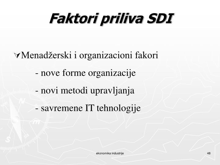 Faktori priliva SDI
