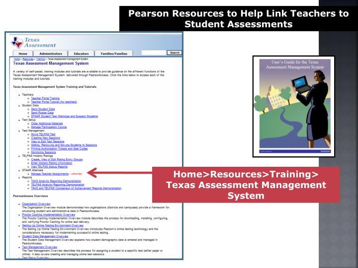 Pearson Resources to Help Link Teachers to Student Assessments