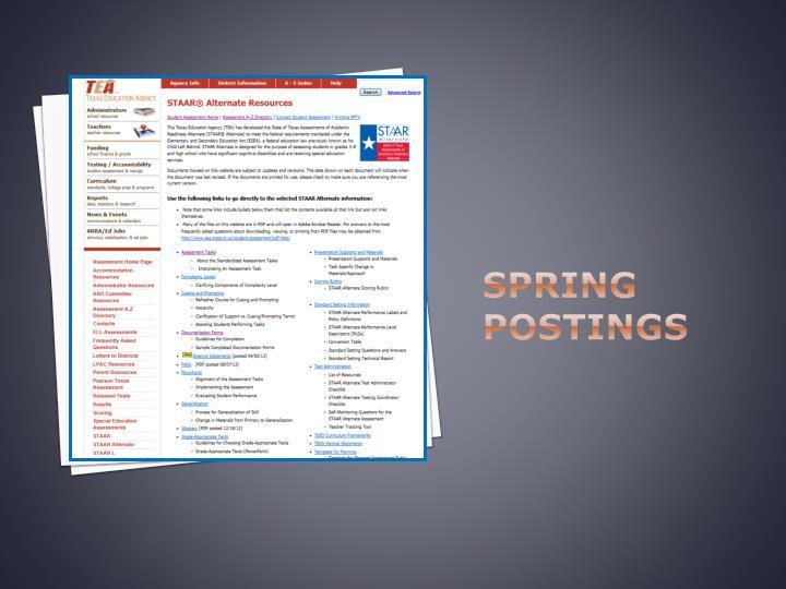 Spring Postings