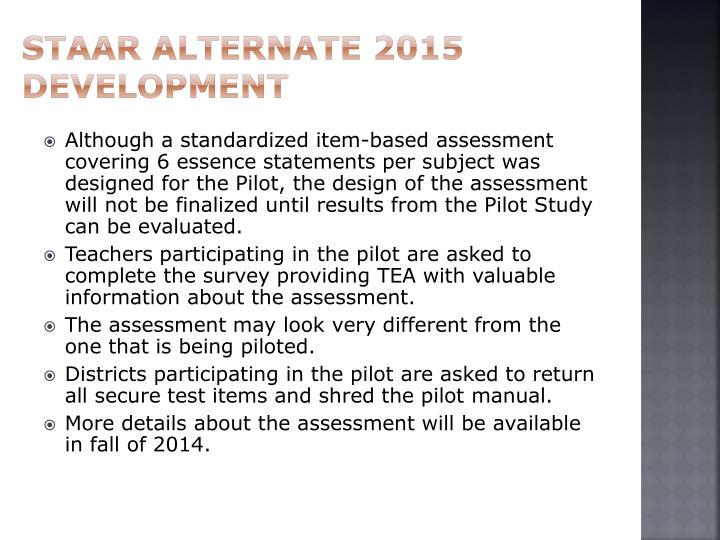 STAAR Alternate 2015