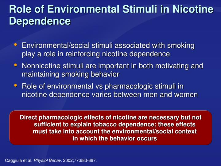 Role of Environmental Stimuli in Nicotine Dependence