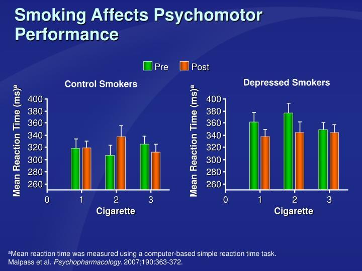 Smoking Affects Psychomotor Performance