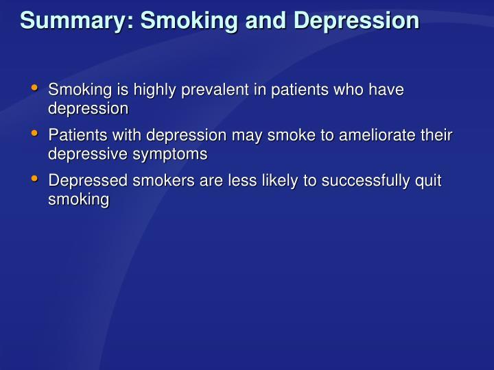 Summary: Smoking and Depression
