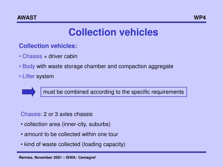 Collection vehicles