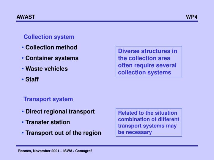 Collection system