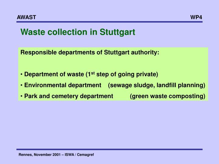 Waste collection in Stuttgart