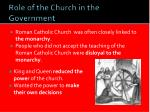 role of the church in the government