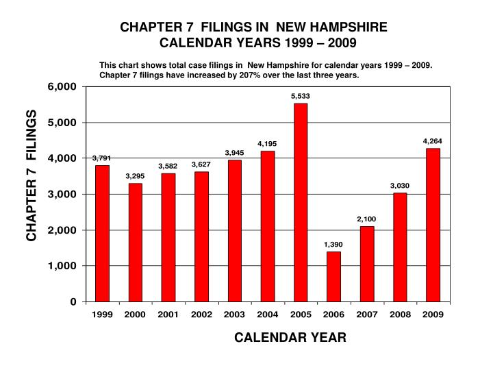 CHAPTER 7  FILINGS IN  NEW HAMPSHIRE
