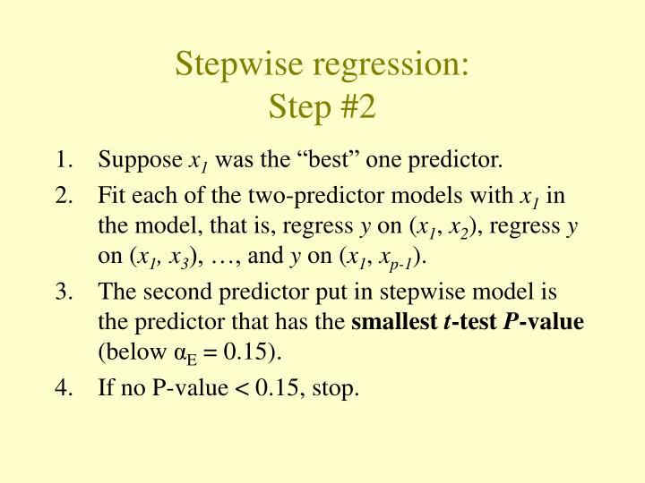 Stepwise regression:
