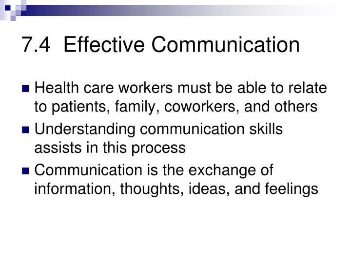 7.4  Effective Communication