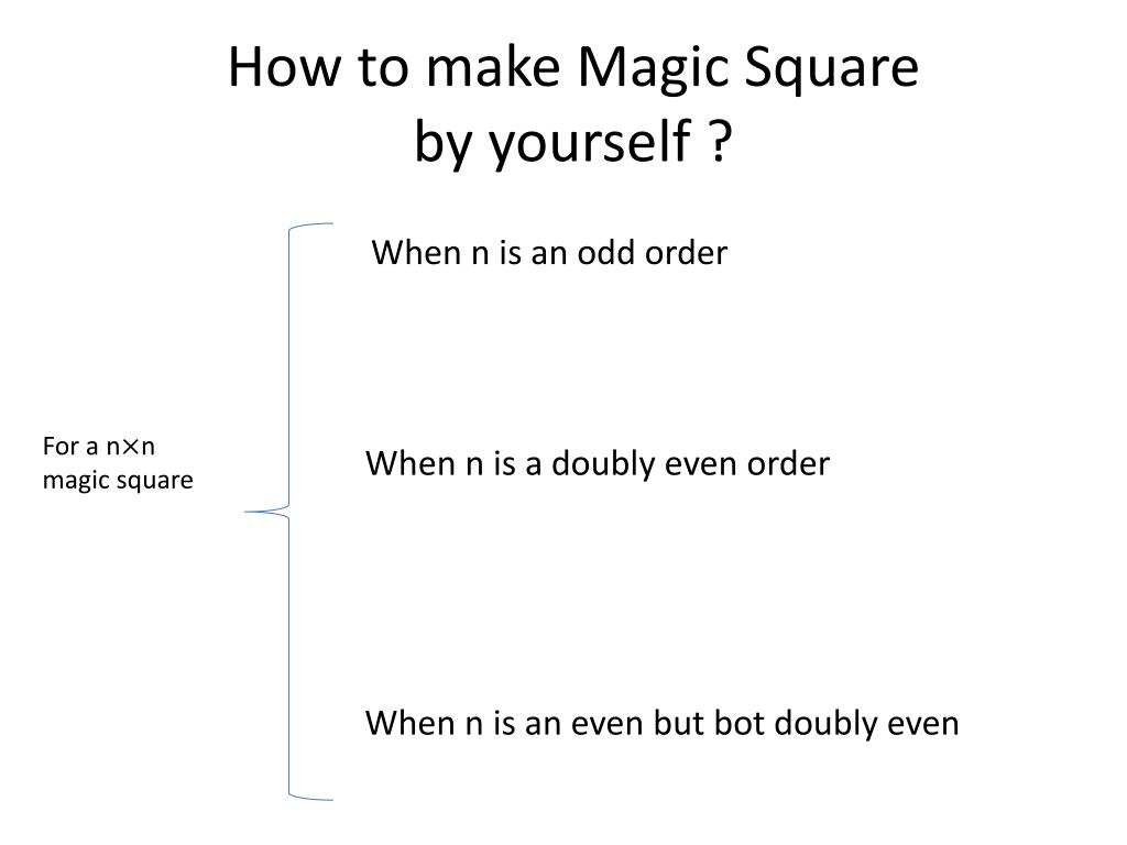 PPT - Magic Square PowerPoint Presentation - ID:6005090