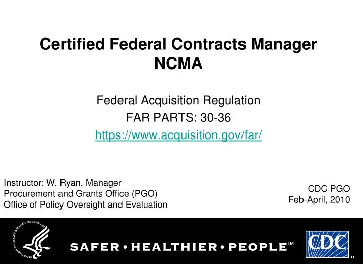 certified federal contracts manager ncma n.