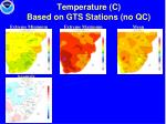 temperature c based on gts stations no qc1