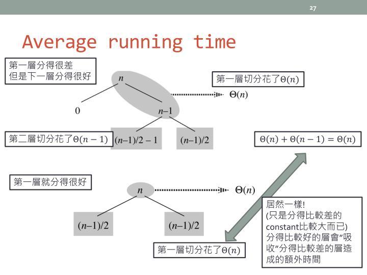 Average running time