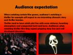 audience expectation