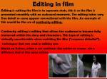 editing in film