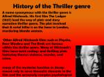 history of the thriller genre