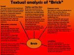 textual analysis of brick