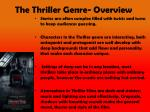 the thriller genre overview