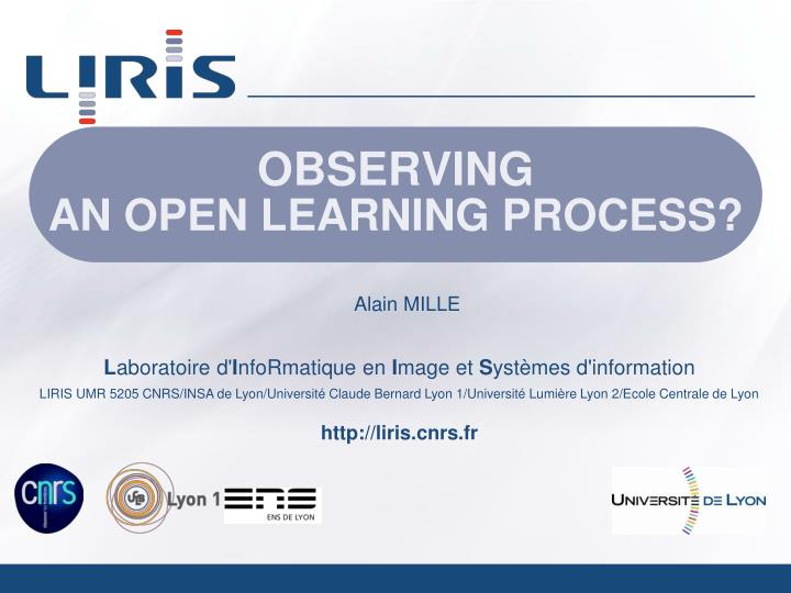 Observing an open learning process