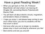 have a great reading week