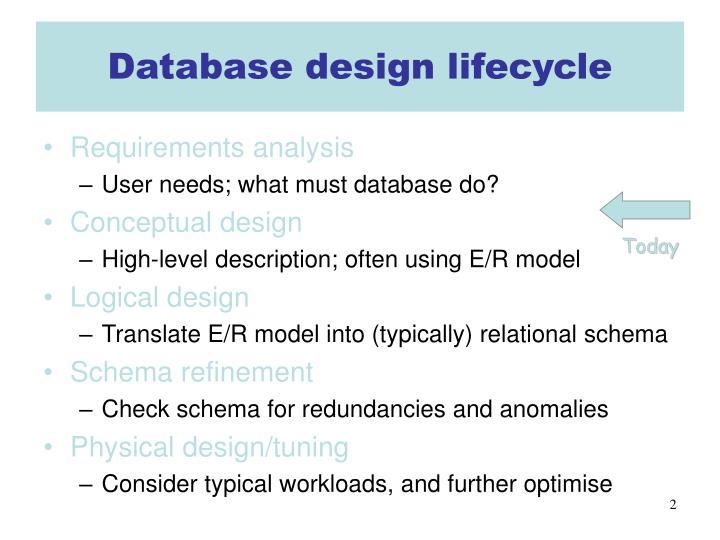 Database design lifecycle