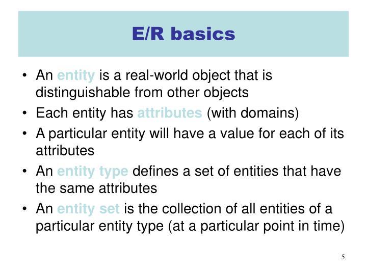 E/R basics