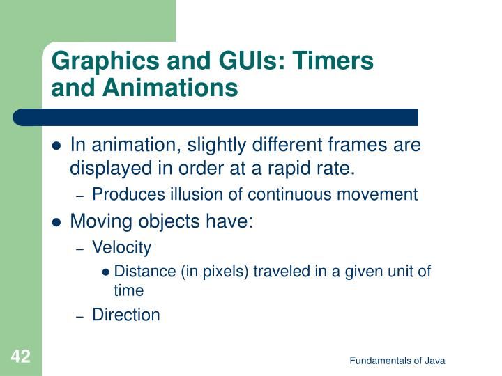 Graphics and GUIs: Timers