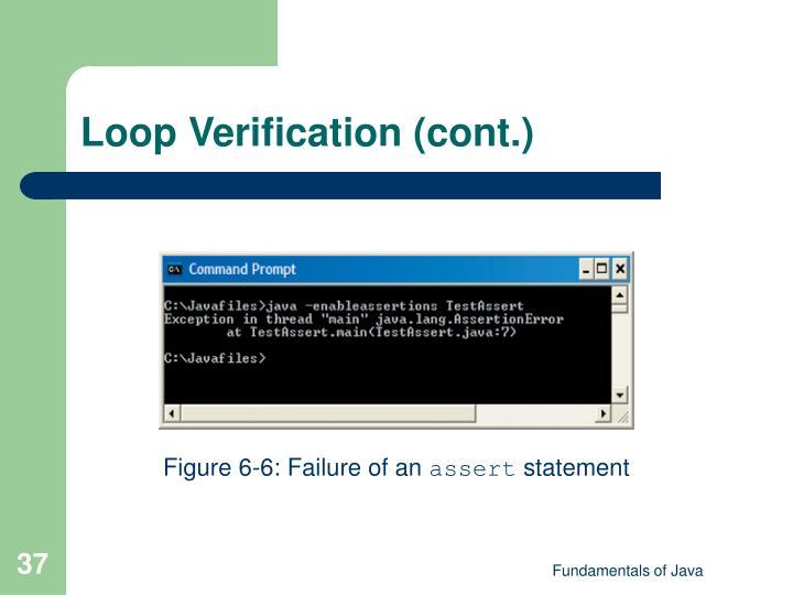 Loop Verification (cont.)