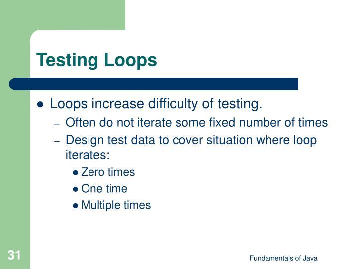 Testing Loops