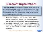 nonprofit organizations