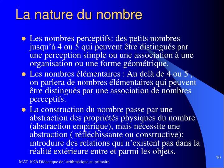 La nature du nombre